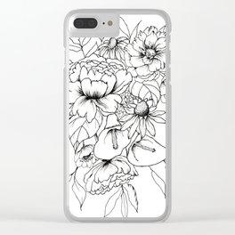 Botanical Bouquet Clear iPhone Case