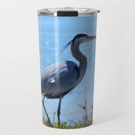 heron by the bridge Travel Mug