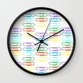 Paper Clips Pattern Wall Clock