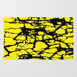 Yellow and Black Interlace Rug