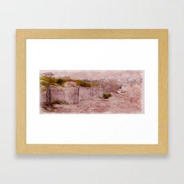 a walk on the beach Framed Art Print