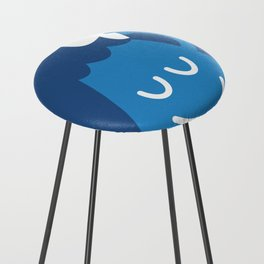 A Friendly Mountain Greeting Counter Stool