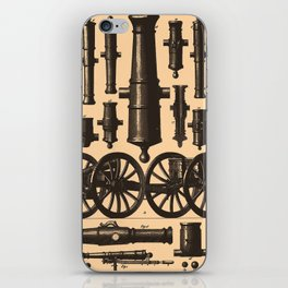 Vintage Cannon & Artillery Diagrams (1907) iPhone Skin