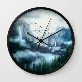 Mountain Morning 3 Wall Clock