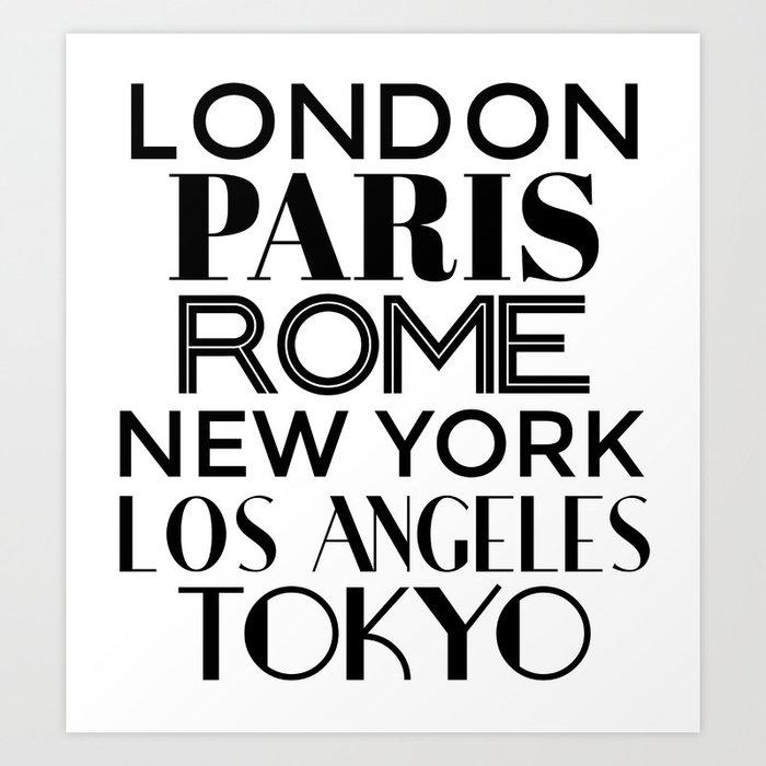 Cities of the World Art Print