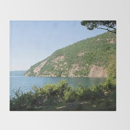 Roger's Rock on Lake George, NY Throw Blanket