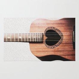 Guitar Heart Rug
