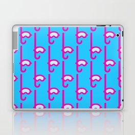 Pink Snorkel - Diver Pattern Laptop & iPad Skin