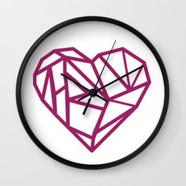 I heart you to pieces Wall Clock