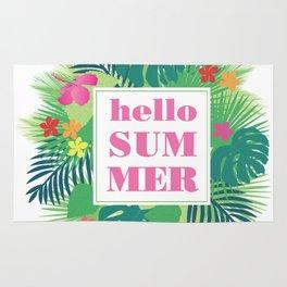 hello summer Rug
