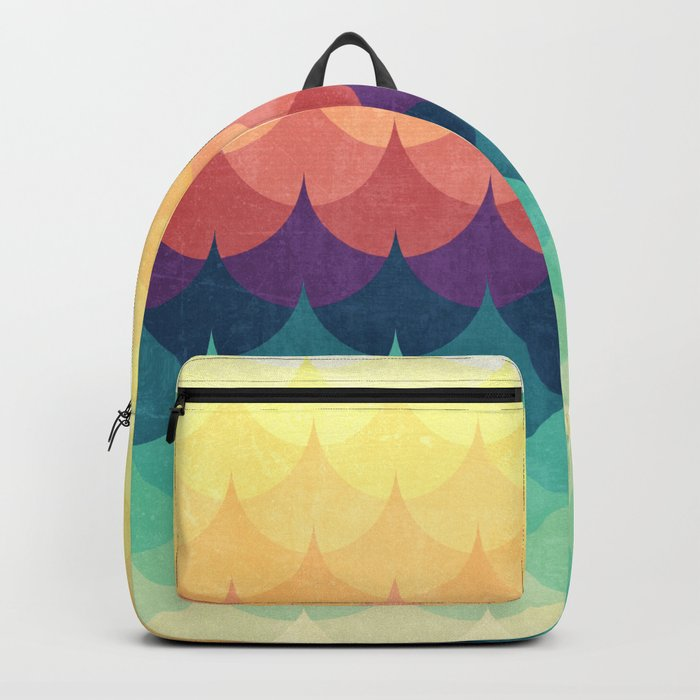 Sailing in Rainbow Waves Backpack