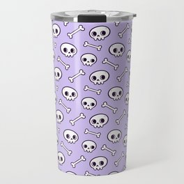 Cute Skulls // Purple Travel Mug