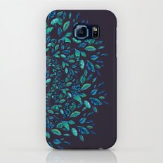 Blue Leaves Mandala Slim Case Galaxy S8