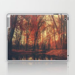 Where are you? Autumn Fall - Autumnal forest Laptop & iPad Skin