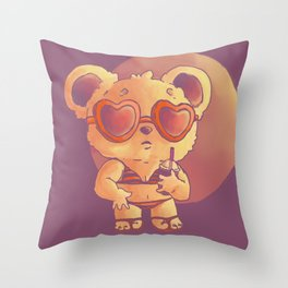 Summer Bear Throw Pillow