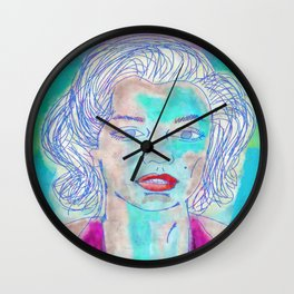 Watercolor Marilyn Wall Clock