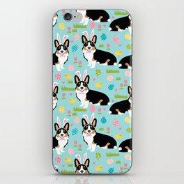 Corgi easter dog breed pattern pet art tricolored corgis easter dog lover gifts iPhone Skin