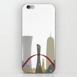 Doha skyline poster iPhone Skin