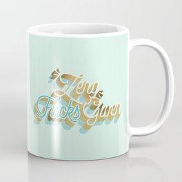 Zero F*cks Given – Powder Blue & Gold Palette Coffee Mug