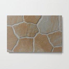 stone wall surface Metal Print