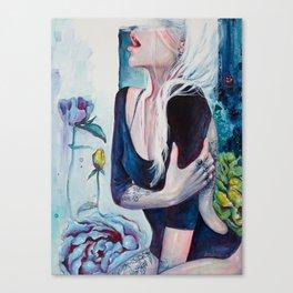 In Her Garden Canvas Print