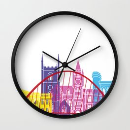 Reading skyline pop Wall Clock