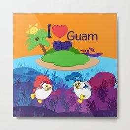 Ernest & Coraline | I love Guam Metal Print
