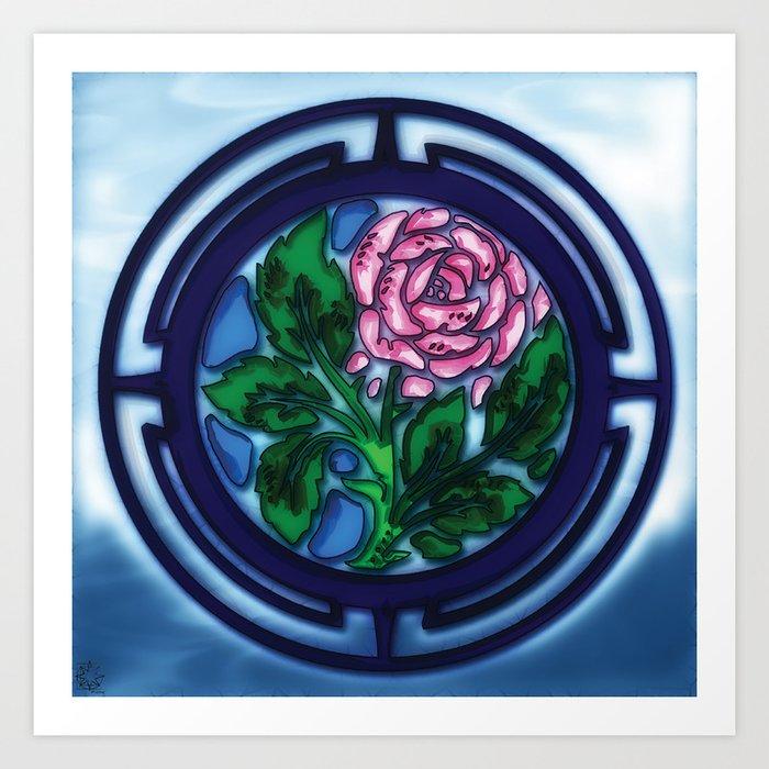 Glass Rose Art Print