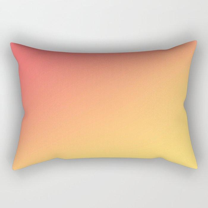 TANGERINE / Plain Soft Mood Color Tones Rectangular Pillow