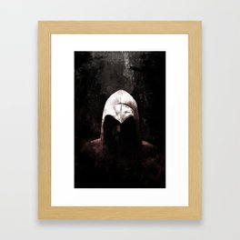 Roman Assassin Hood - Color Framed Art Print
