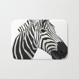 a zebra head portrait Bath Mat