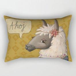 Bohemian Llama Rectangular Pillow