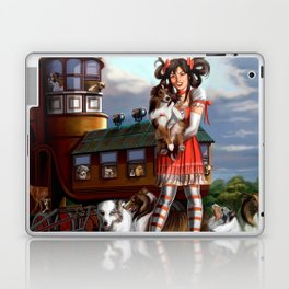 Gothic Lolita in the Shoe with Dogs Laptop & iPad Skin