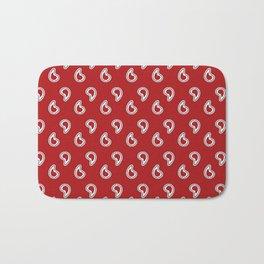 Red Piano Pattern Bath Mat