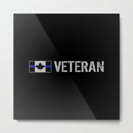 Canadian Police Veteran Metal Print