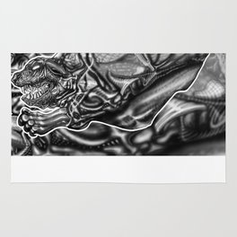 Feral Greyscale - Giger Tribute Rug