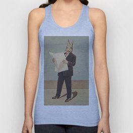 Deacon Bunny Illustration by Culmer Barnes in The Bunnys at Home In A Suit - 1915 Unisex Tank Top