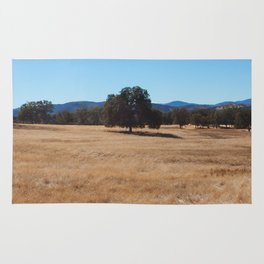 Fall Field Photography Print Rug
