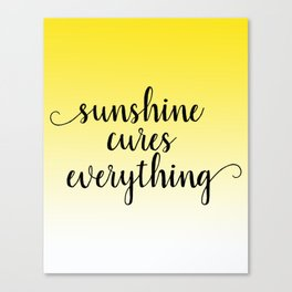 Sunshine Cures Everything Canvas Print