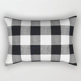 Black and White Buffalo Rectangular Pillow