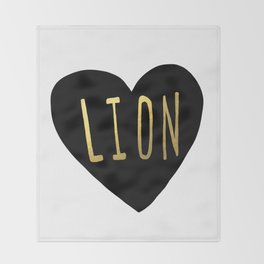 Lion Heart Throw Blanket