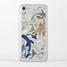 """FINconceivable Still """"Sharks"""" Clear iPhone Case"""