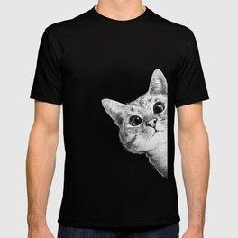sneaky cat T-shirt