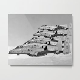 A-10 Warthogs Flying In Formation Metal Print