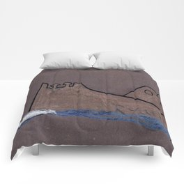 1916 Night Ice Collision Comforters