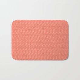 Baesic Llama Pattern (Coral) Bath Mat
