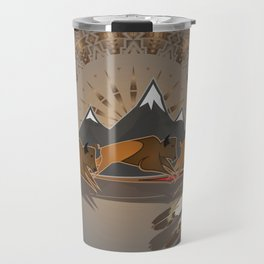 Native American Indian Buffalo Nation Travel Mug
