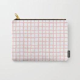 Pantone rose quartz grid pattern print minimal lines cross swiss cross painting hand drawn pastel Carry-All Pouch