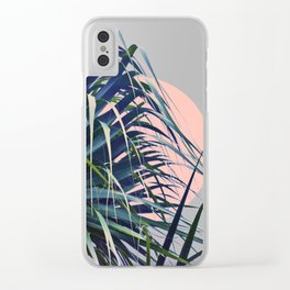 Feather Palm Clear iPhone Case