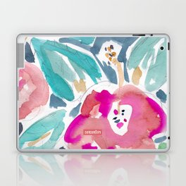 Peach Hibiscus Laptop & iPad Skin